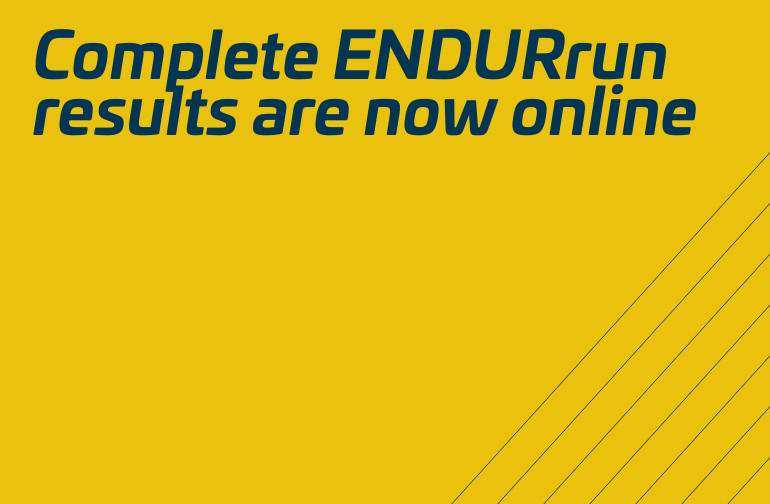 Complete ENDURrun results now online