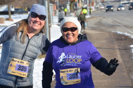 The sun shines on the 10th Laurier Loop!