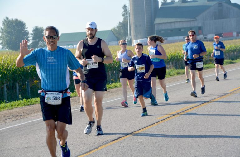 Getting our sweat on at the fifth Harvest Half