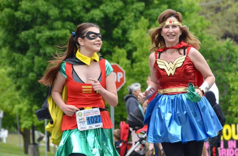The sun shines on the Rotary Classic Superhero Run for KidsAbility!