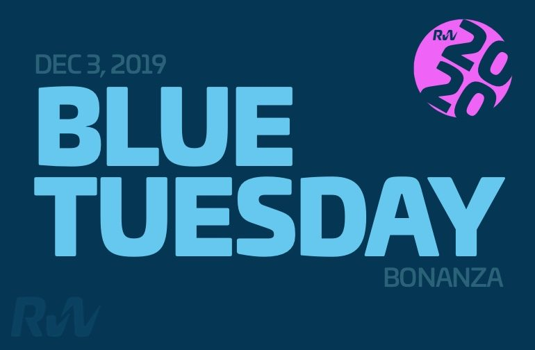The Blue Tuesday bonanza is open!