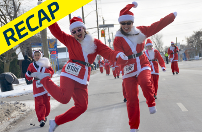 Santa runs to town at the Santa Pur-suit!