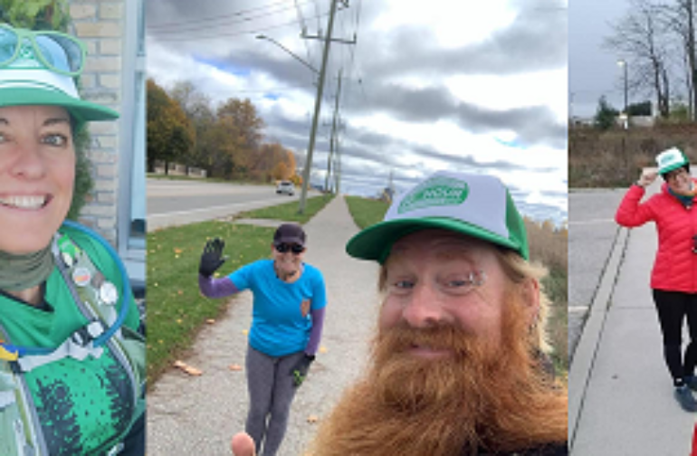 Catching up with Job Runner Courier's 24 hour run/walk for the GRRCC